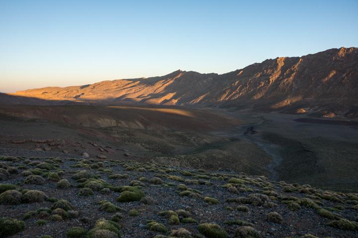 Lever de soleil sur le plateau de Tarkedit