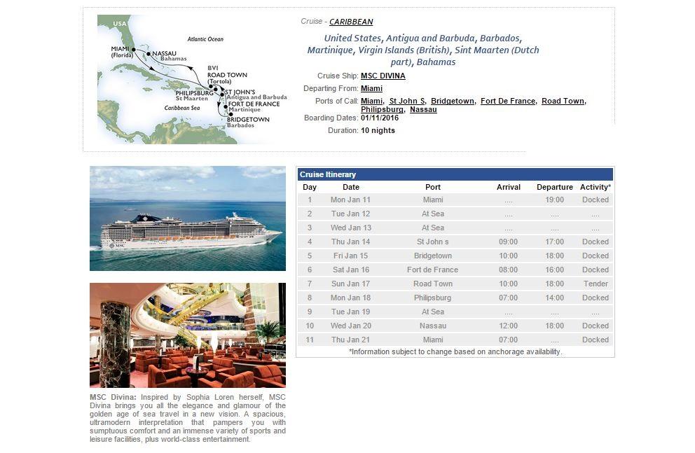 caribbean cruise program